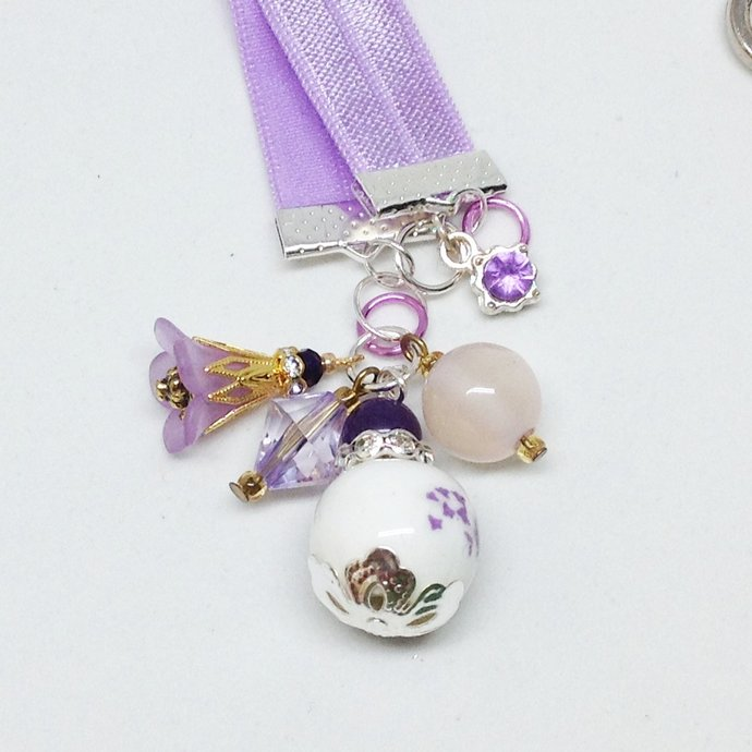 Lavender Purple Stretch Bookmark | Dragonfly lovers gift | Book Readers Gift |