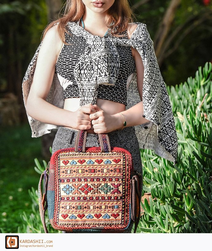 Handmade Carpet hand-woven everyday Bags For Birthday or Christmas Gift.