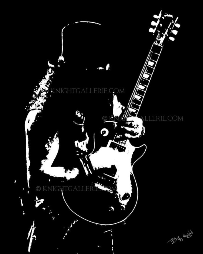 Guitar Player Illustration: Slash?