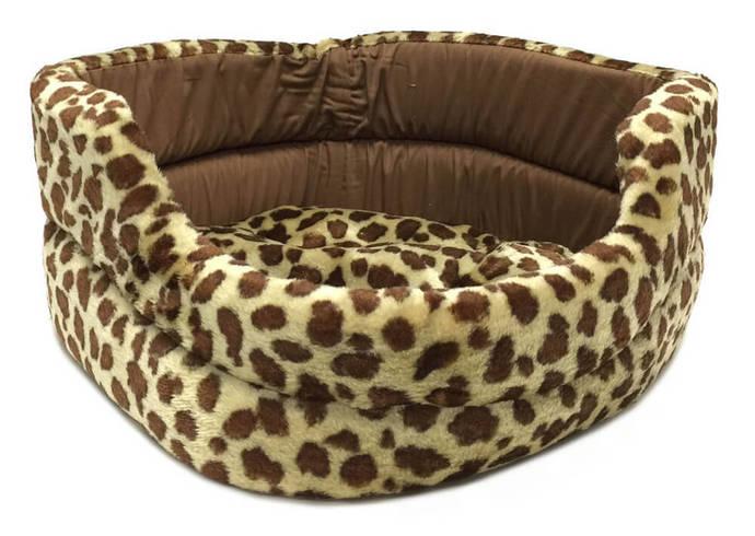 Brand New PET BED Spotted Giraffe print Plush Sleeper -  Dog Puppy Cat