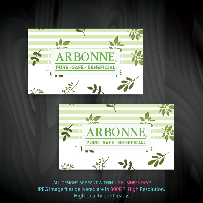 Arbonne Business Card, Arbonne Consultant, Personalized Arbonne Business Cards,