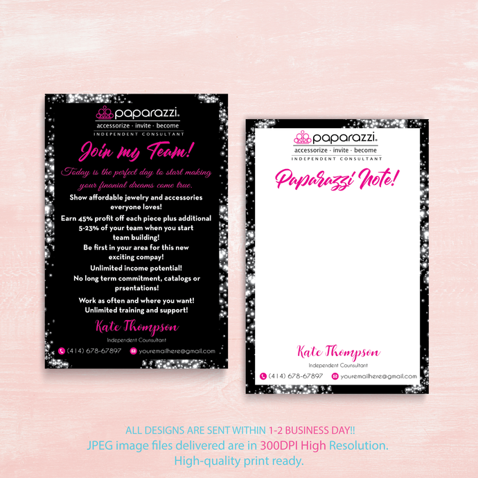 Paparazzi Note Cards, Join My Team cards, Paparazzi Join My Team cards,