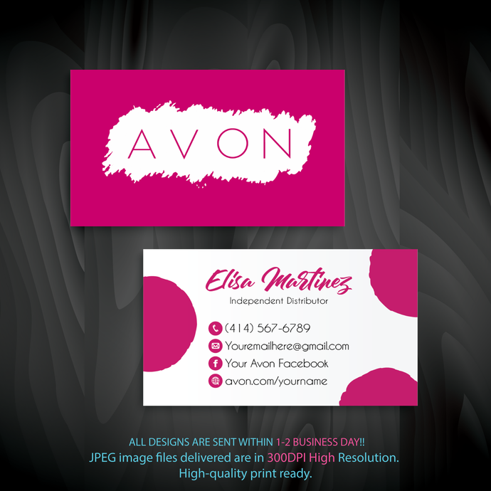 Custom Business Cards, Avon Business Cards, Personalized Avon Business Cards,