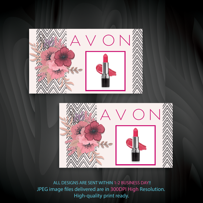 Personalized Avon Business Cards, Custom Business Cards, Avon Business Cards,