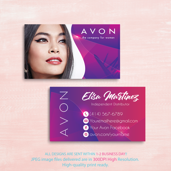 Avon Business Cards, Custom Avon Business Cards, Personalized Avon Business