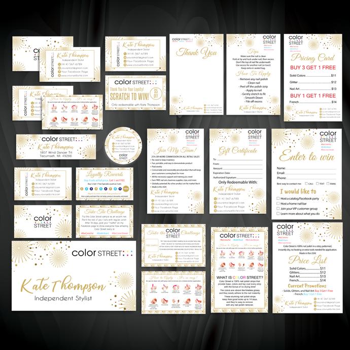 Printable Digital Cards, Color Street Marketing Package, Color Street Marketing