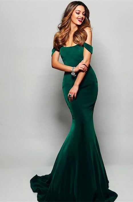 24fed11c09 Dark Green Velvet Mermaid Prom Dresses 2019 Off The Shoulder Sexy Long Prom