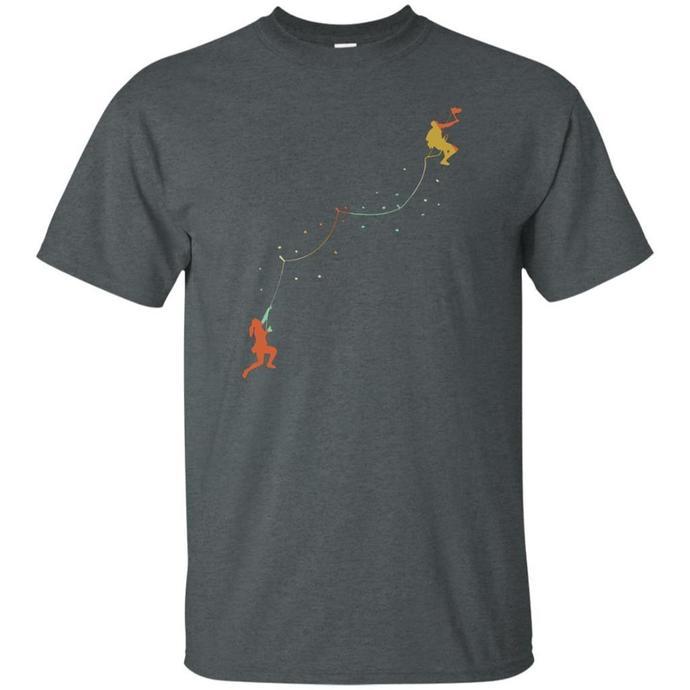 Rock Climbing Tee Shirt, Mountain Climber Outdoor Men T-shirt, Retro Rock