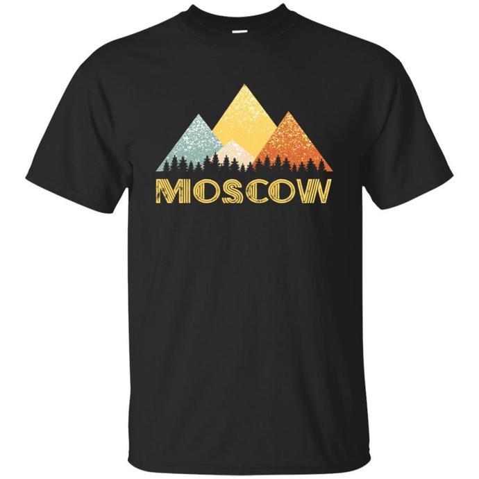 Retro City of Moscow Mountain Shirt Men T-shirt, Vintage Moscow Mountain Tee,