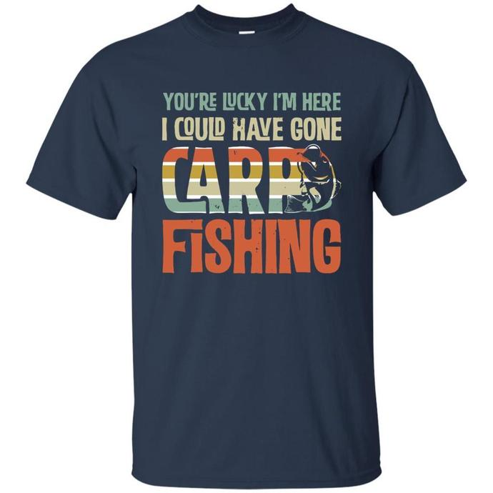 c2745f1f Carp Fishing Funny Lucky I am Here Men T-shirt, by digitalart on