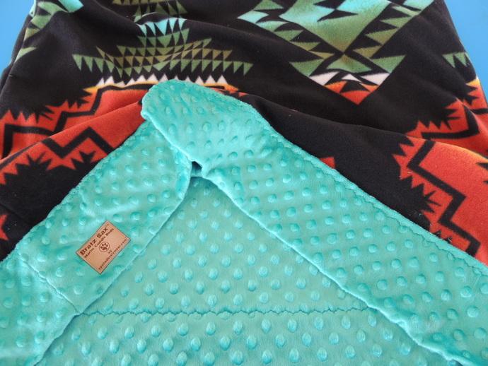 Bratz Sax Turquoise WindRunner Southwest Fleece Cuddle Bed