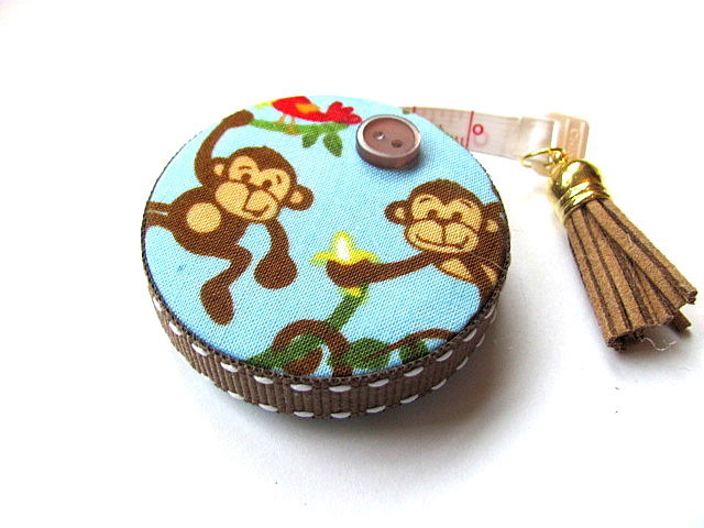 Tape Measure Monkey Love Retractable Tape Measure