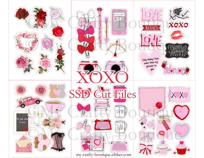 """XOXO"" SSD Cut Files Digital Download"