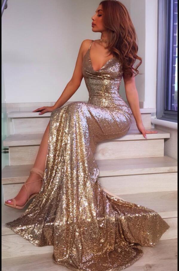 mermaid gold sweet 16 dresses