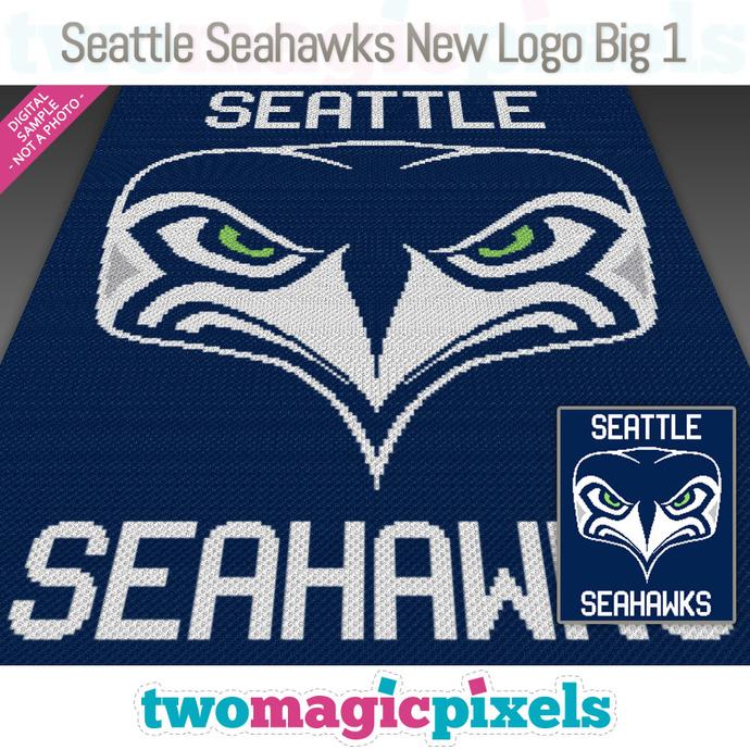 Seattle Seahawks New Logo Big 1 Crochet Graph Mini C2c Sc Hdc Dc Tss Cross Stitch Knitting Pdf Download No Counts Instructions
