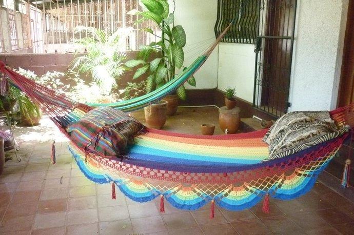 Rainbow magic Two, Beautiful single size hammock, Rainbow colors combination