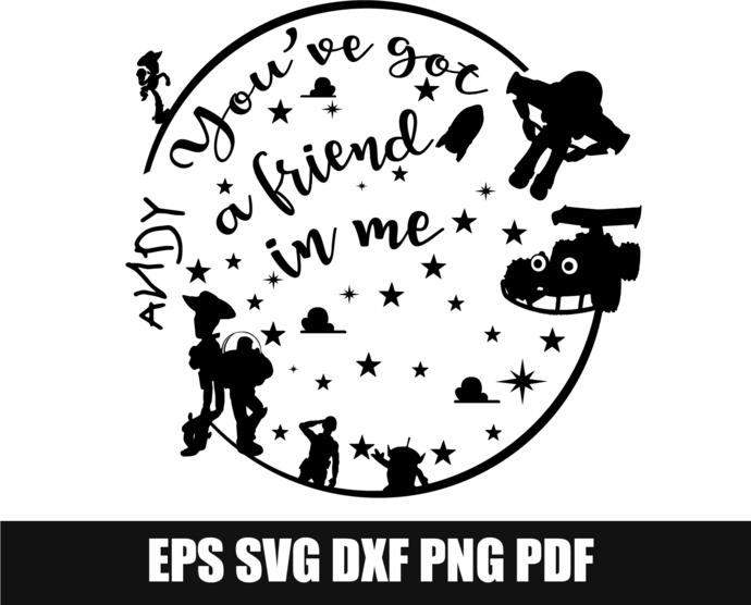 c69b65926 You've Got a Friend in Me Svg, Toy Story svg, by SvgGyn on Zibbet