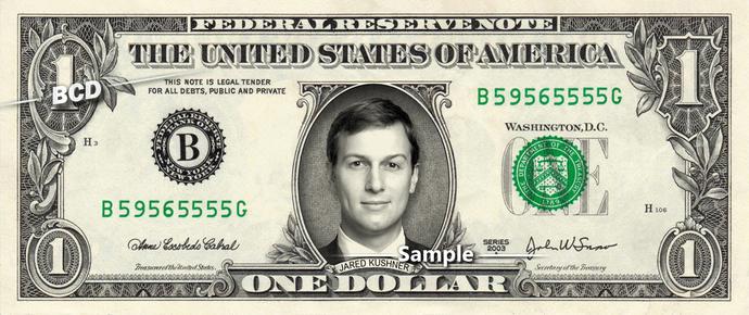 Jared Kushner on a REAL Dollar Bill Cash Money Collectible Memorabilia Celebrity