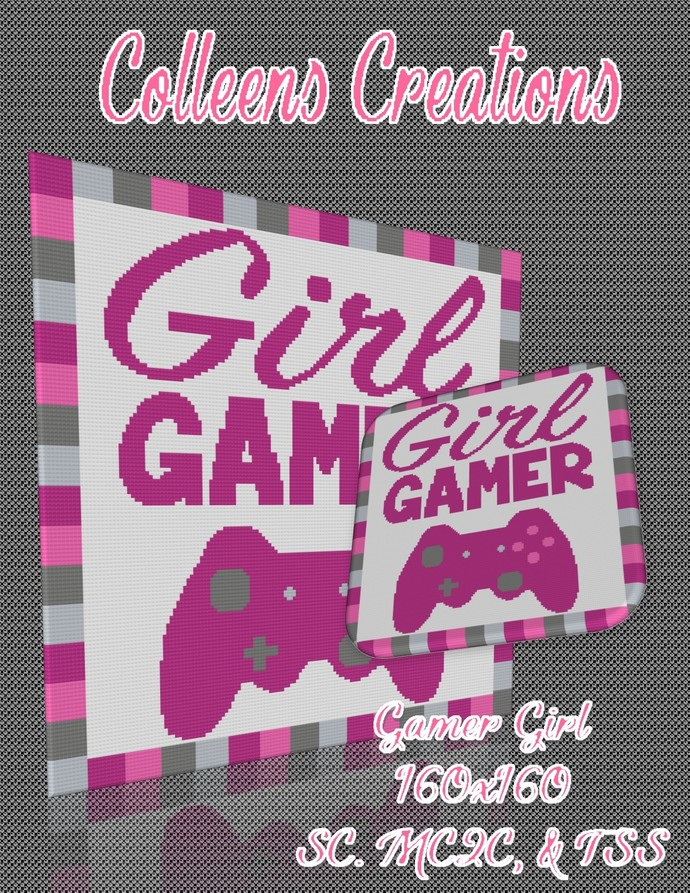 Gamer Girl Crochet Written & Graph Design