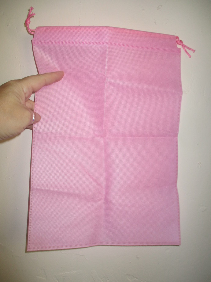Excellent Quality Drawstring Plain Pink Non-Woven Gift Bags