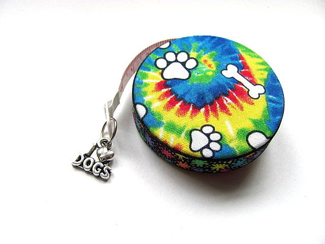 Tape Measure Tie Dye Dog Lovers Retractable Measuring Tape