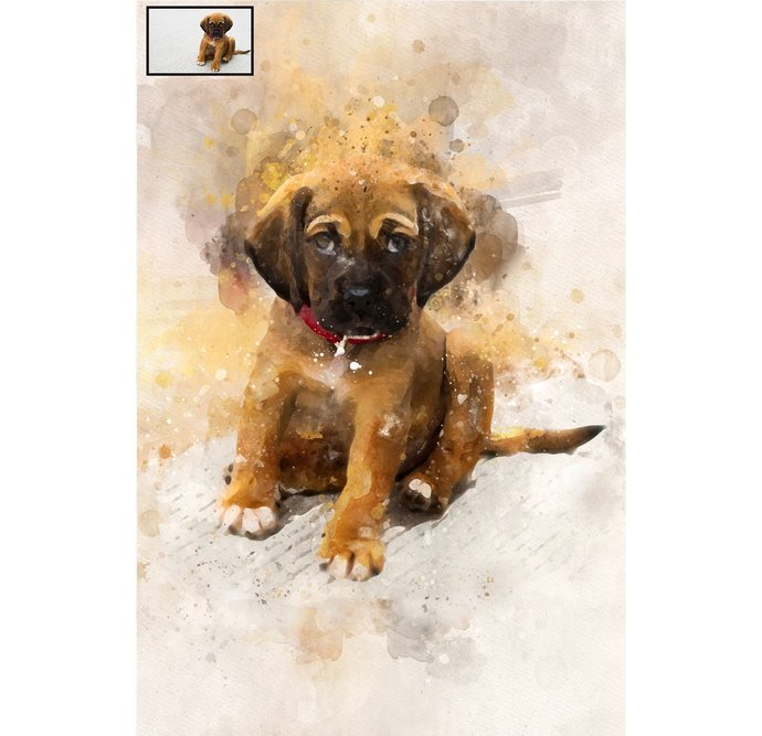 Custom Watercolor Painting for Pet, Watercolor,Custom Portrait, Painting from