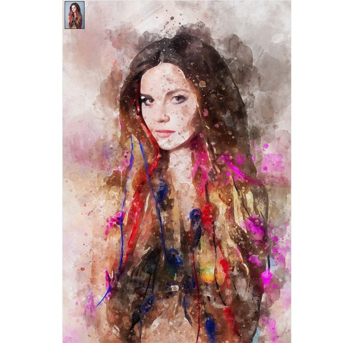 Custom Portrait, Custom Watercolor, Transform Portrait to Artwork, Painting from