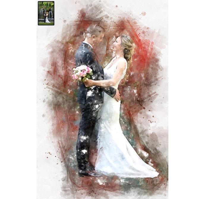 Custom Wedding Portrait, Watercolor, Transform Portrait to Artwork, Custom