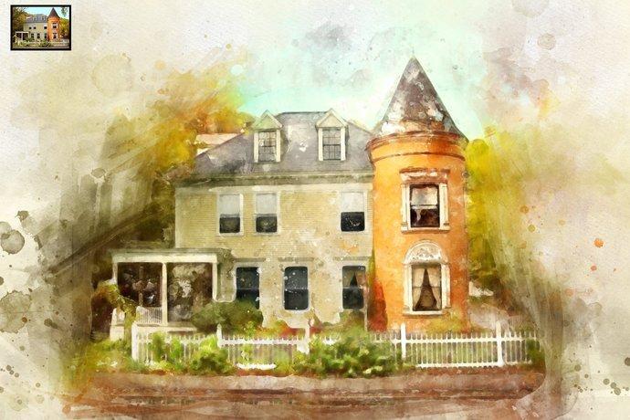 Custom House Portrait, Watercolor, Transform Portrait to Artwork,Custom