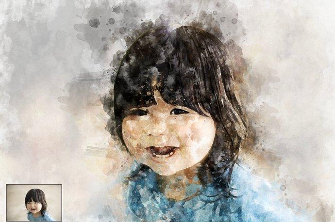 Custom Kids Portrait,Custom Watercolor,Transform Portrait to Artwork, Painting