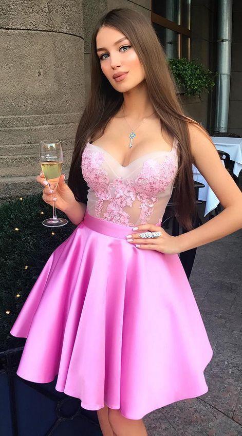Charming Prom Dress, Sleeveless Prom Dress , Elegant Homecoming Dress, Short