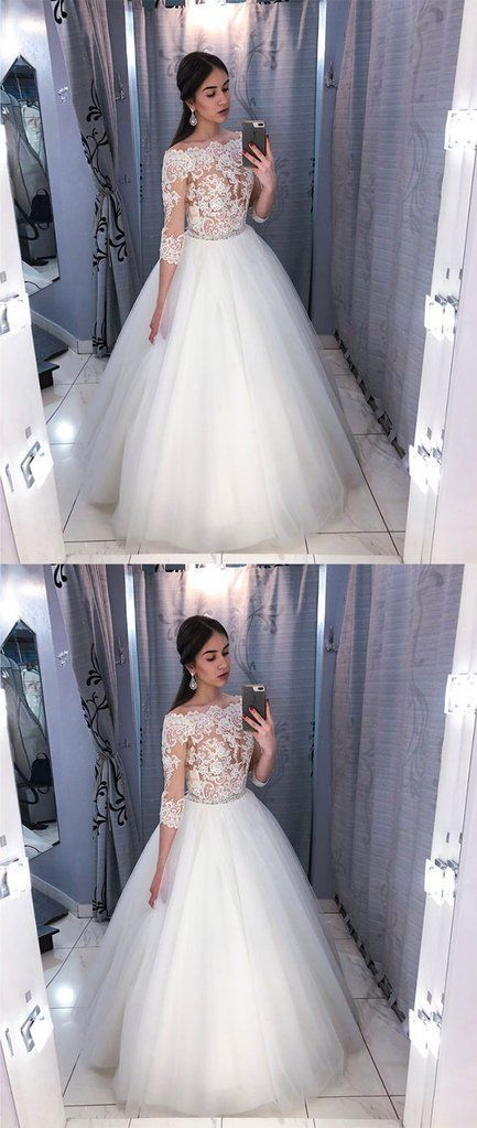 2a33e9ecd95 tulle lace long prom dress