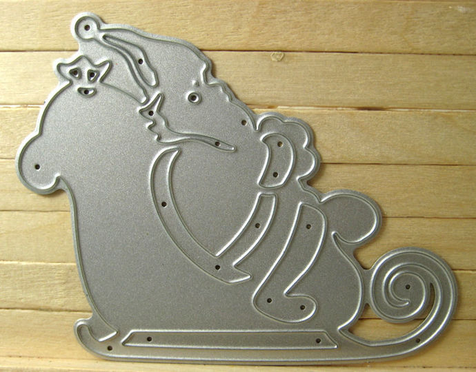 Santa Claus Sleigh Metal Cutting Die