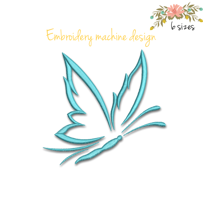 Butterfly embroidery machine design pes file digital instant download pattern