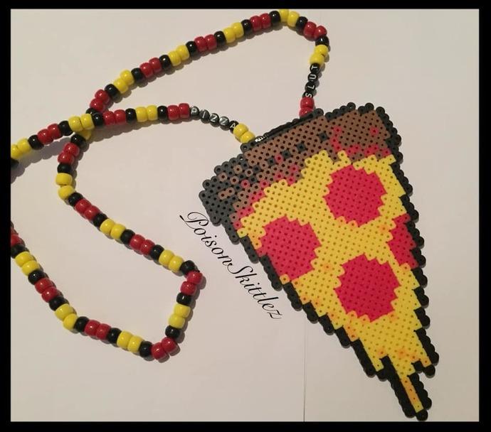 Pizza Slut Necklace Kandi
