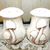 Mushroom Salt and Pepper Set, Ceramic Mushroom Salt and Pepper Set, Vintage