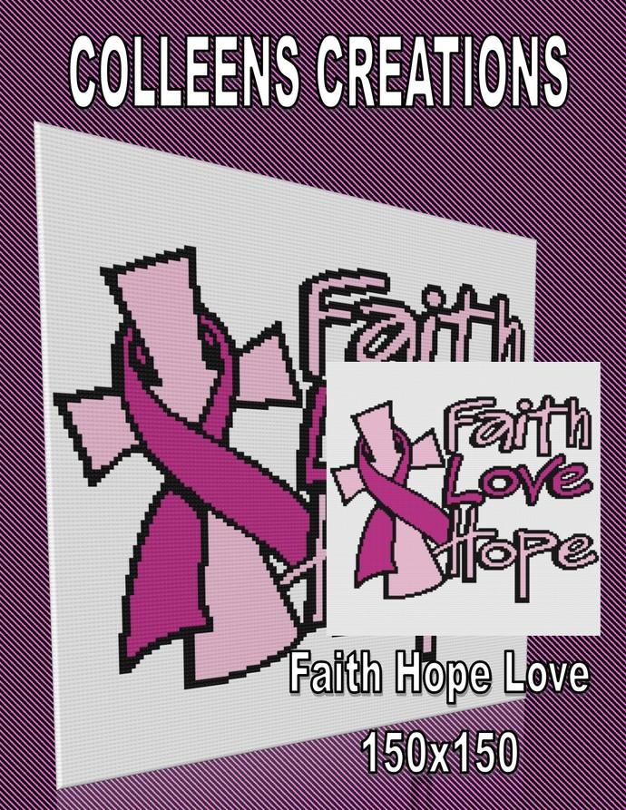 Faith Hope Love Crochet Written & Graph Design