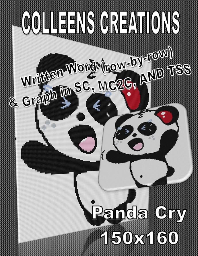 Panda Cry Crochet Written & Graph Design