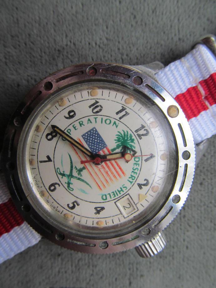 hand watch Vostok DESERT STORM/Desert Shield antimagnetic mechanical wristwatch