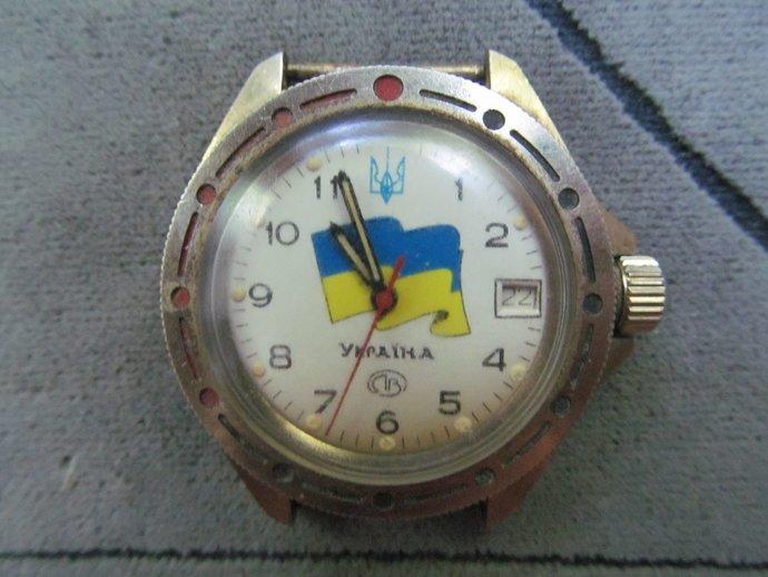 Men's watch VOSTOK flag Ukraine komandirskie/hand watch WOSTOK military