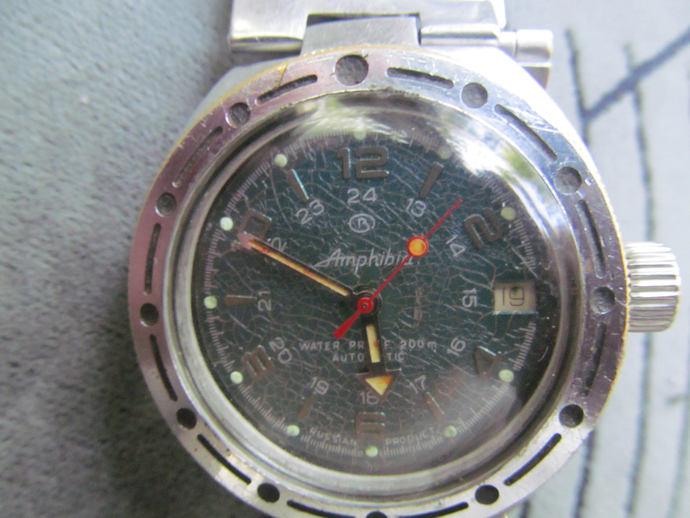 hand watch VOSTOK amphibia mechanical waterproof 200m automatic/WOSTOK amphibian