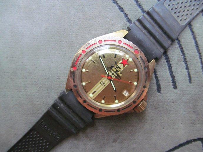 like new!!Hand watch VOSTOK komandirskie Tank Red Star/Men's watch WOSTOK