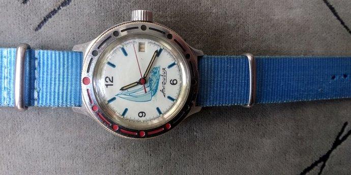 Men's watch VOSTOK amphibian sailing ship 2416b/Wrist watch WOSTOK amfibia