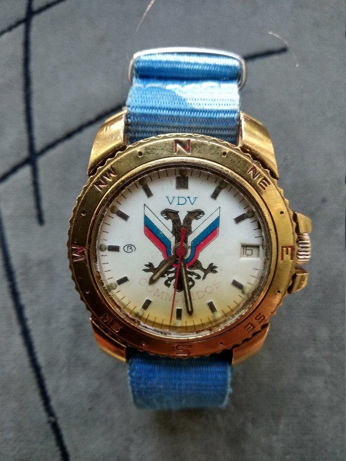 Men's watch VOSTOK komandirskie VDV commandos with calendar/Hand watch WOSTOK