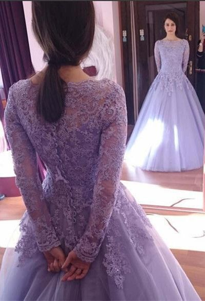 b3a857c3431 Princess Long Sleeve Prom Dresses