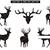 Deer svg,Reindeer svg,Cricut files,silhouette cameo,Reindeer