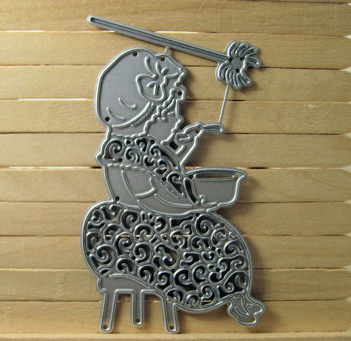 Little Miss Muffet Girl Metal Cutting Die Tattered Lace