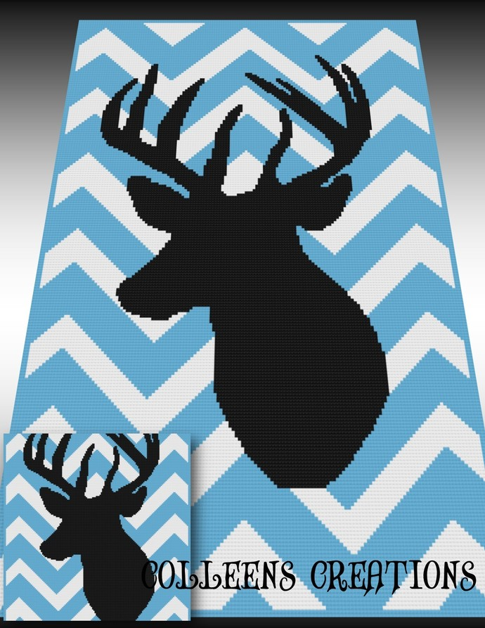 Chevron Deer Crochet Written & Graph Design
