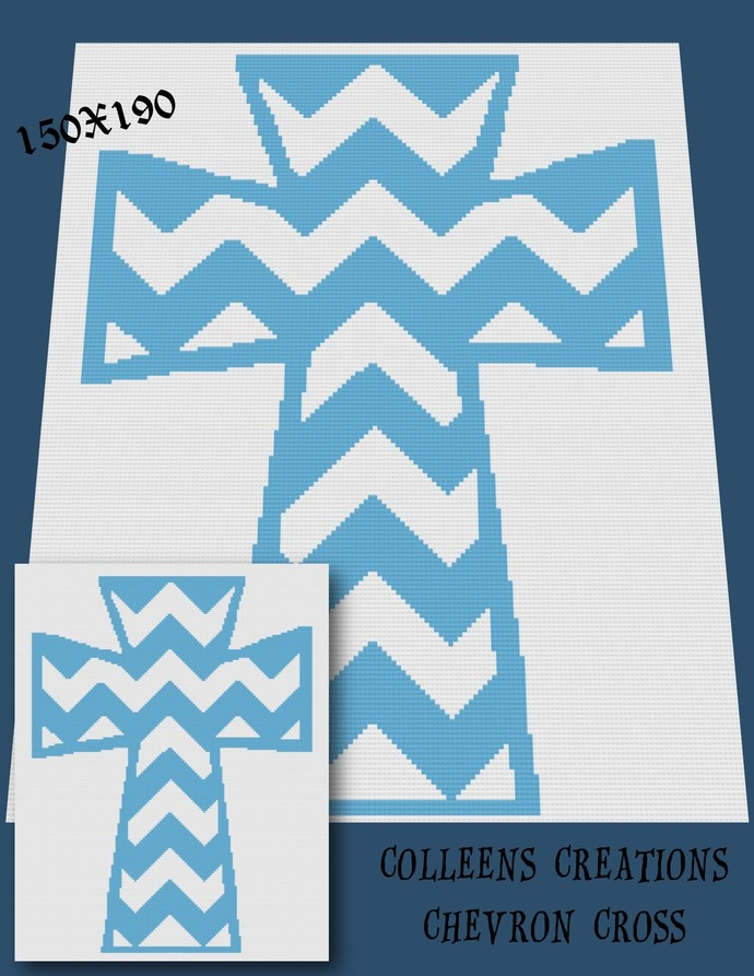 Chevron Cross Crochet Written & Graph Design