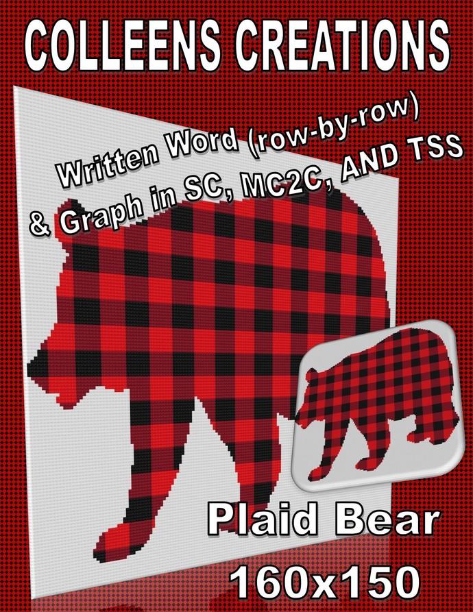 Plaid Bear Crochet Written & Graph Design